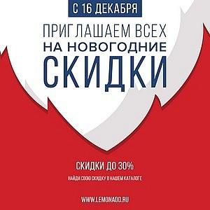 Новогодние скидки в Lemonadd.ru